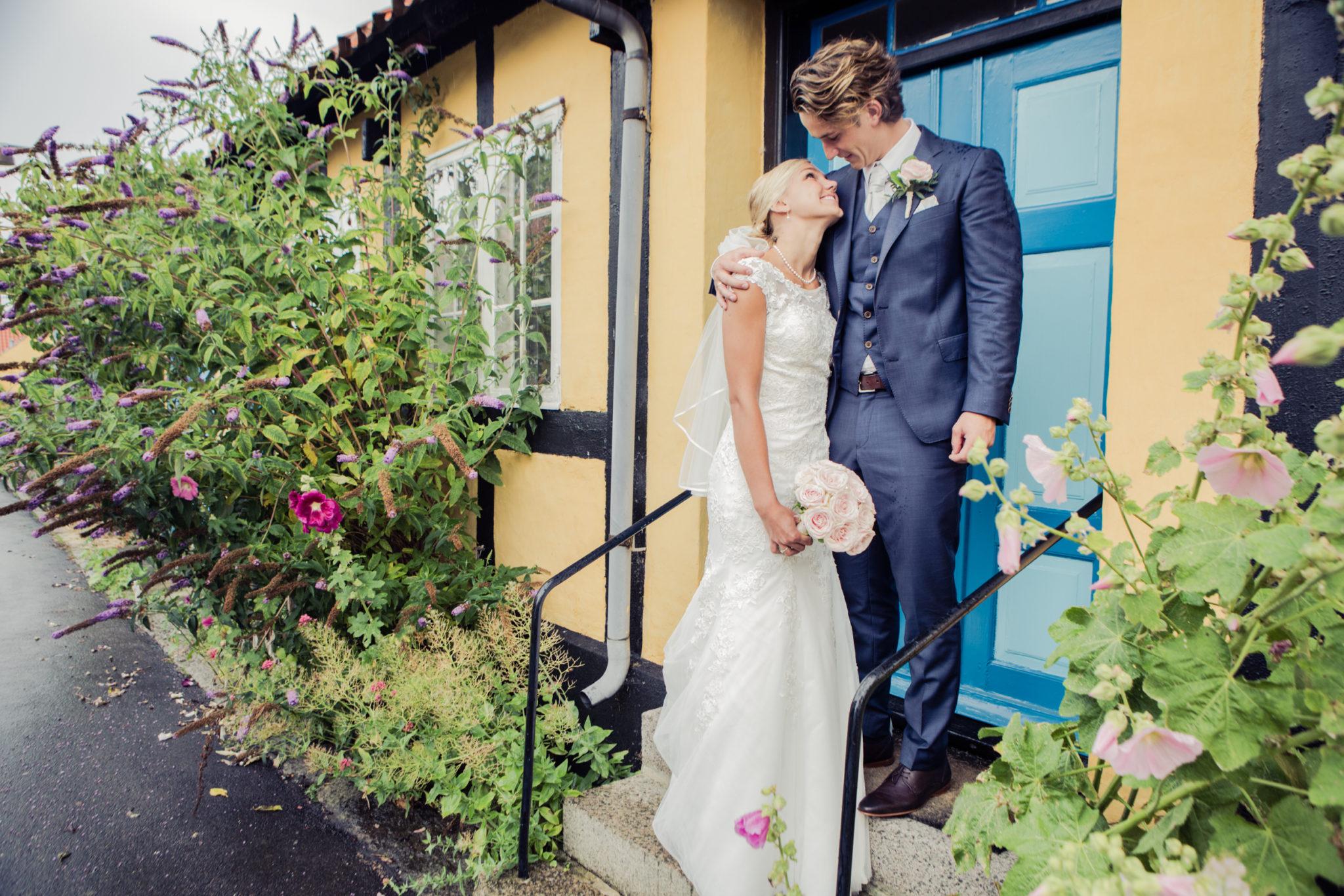 Brautpaare am Stadthaus auf Bornholm
